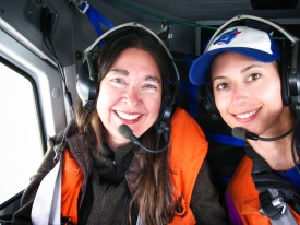 Dr. Cristina Eisenberg and myself on our aerial survey of Denali