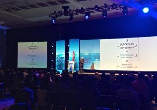 Don Tapscott presenting his work on the Blockchain Revolution